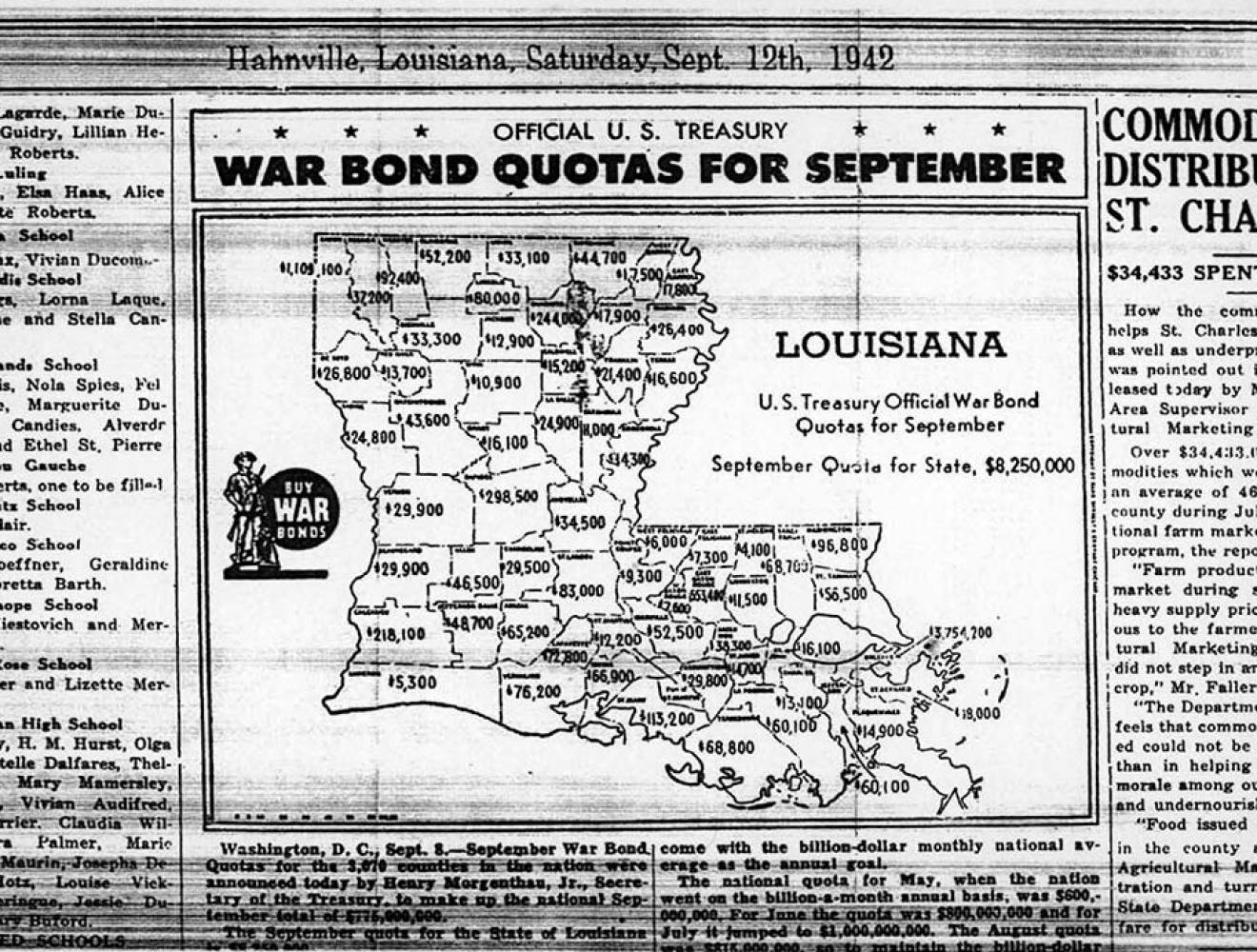 War Bond Quotas