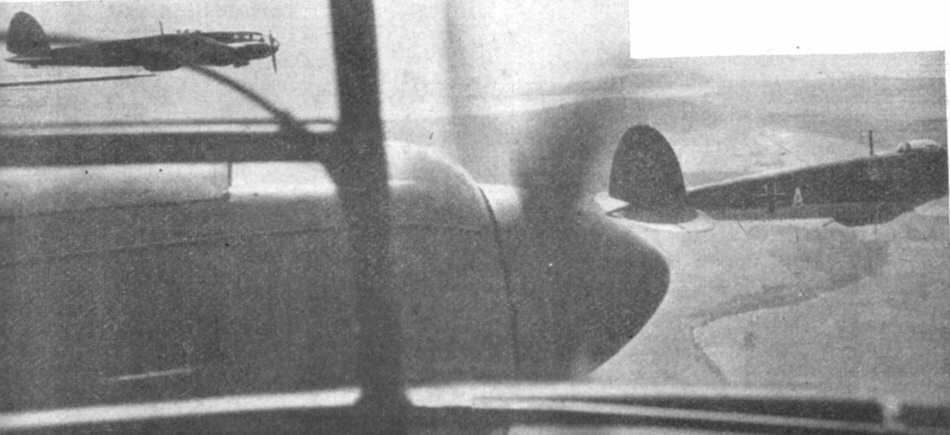 Heinkel He 111 in flight