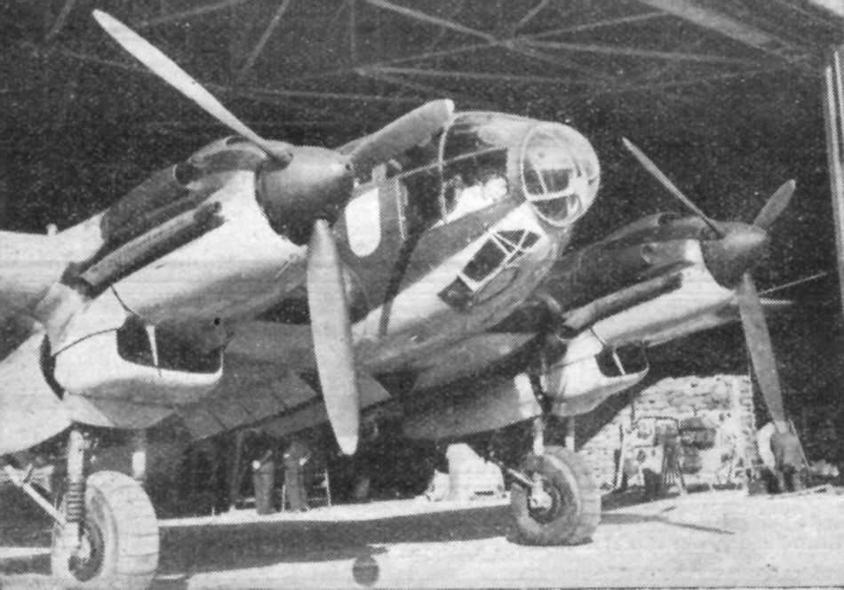 Front view of a Heinkel He 111