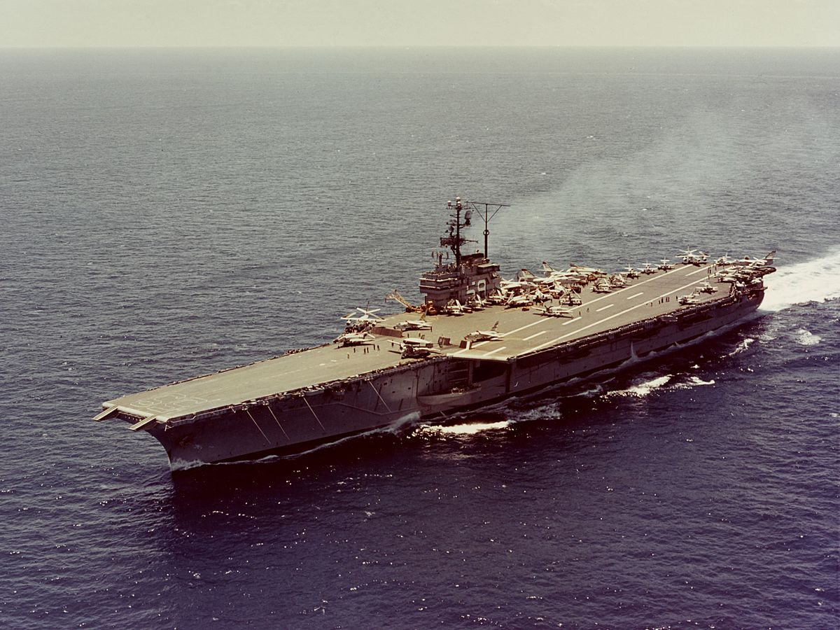 Uss Forrestal Cva 59 First Angled Deck Carrier