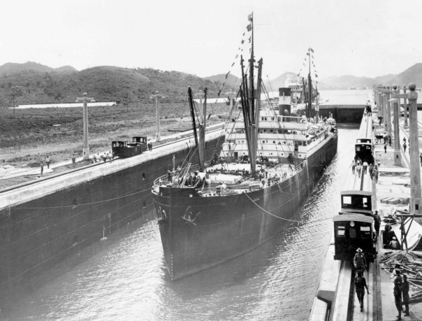 Image result for 1914 – The Panama Canal opens to traffic with the transit of the cargo ship SS Ancon