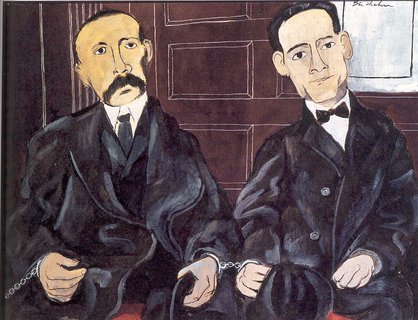 Painting of Socco and Vanzetti