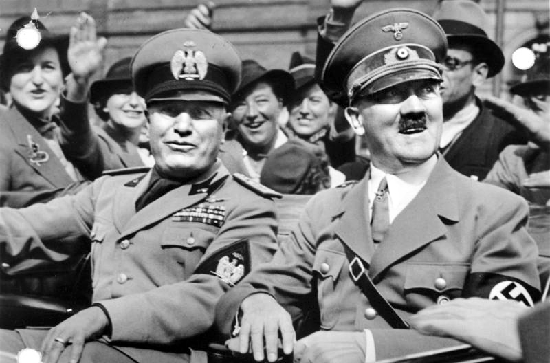 Image result for photo of hitler and mussolini