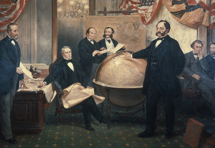 askan Treaty, 1867 by Emanuel Gottlieb Leutze, 19th century. © Bridgeman Images