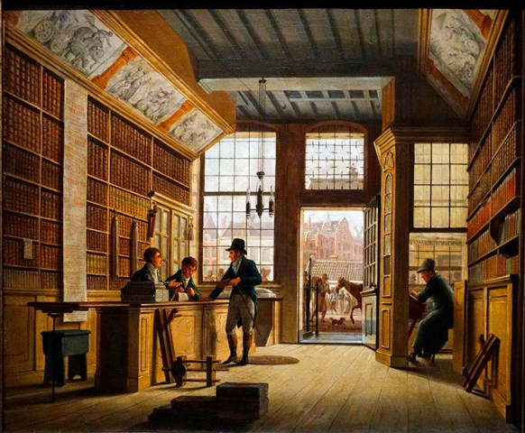 The best history books of 2016   History Today The Bookshop by Johannes Jeigerhuis  1820