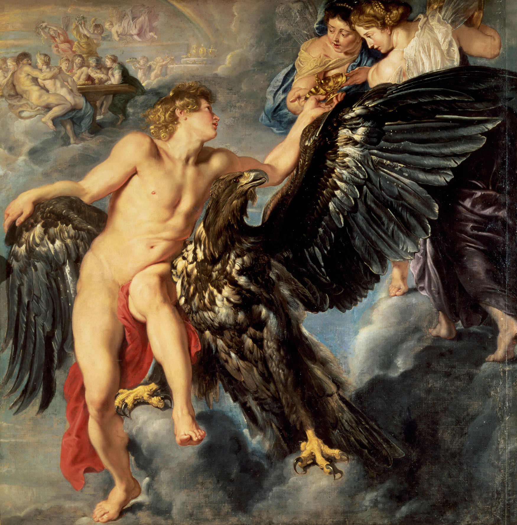 The Kidnapping of Ganymede by Peter Paul Rubens, 1611-12