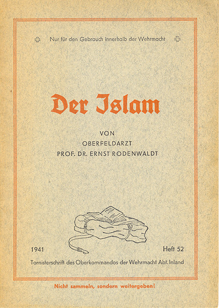 The cover of Der Islam, 1941.