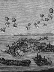 Image result for 1849 – The first air raid in history. Austria launches pilotless balloons against the city of Venice