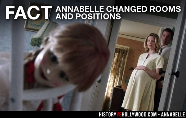 Annabelle Doll Changes Positions and Rooms