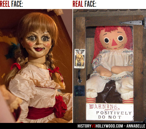 Image result for annabelle reel and real