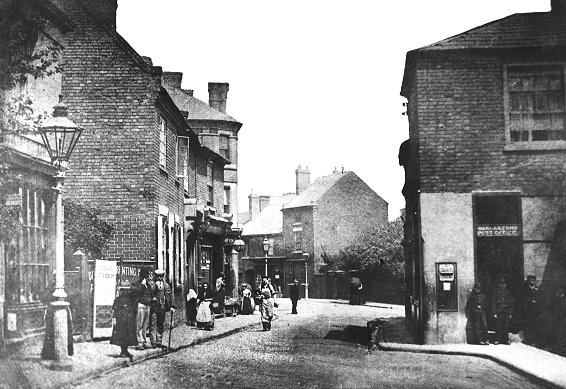 King Street - The Fold is on the left behind the first block of shops. Picture from History Website.