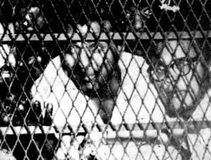 Guyana's nationalist politicians Cheddi Jagan & Martin Carter behind bars in 1954