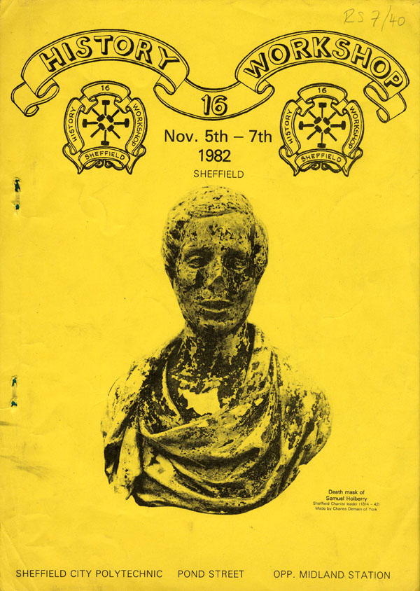 image of the cover of the booklet issued for attendees of history workshop 16