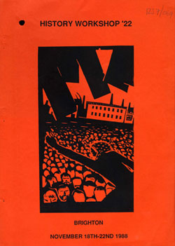 image of the cover of the booklet sent to attendees of history workshop 22