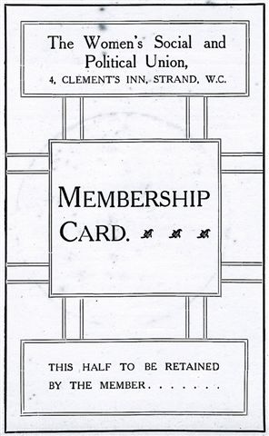 Kate's WSPU membership card