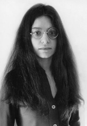 Shulamith Firestone (January 7, 1945 – August 28, 2012), feminist and central figure in the early development of radical feminism. Photograph by Michael Hardy, circa 1970