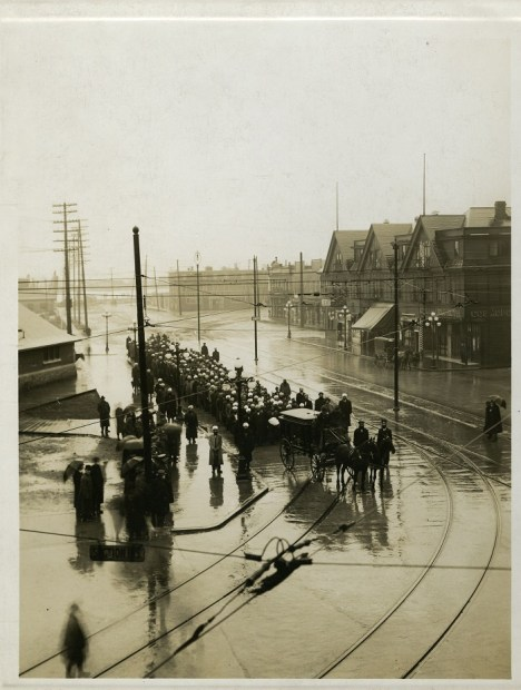 Mewa Singh funeral procession, 1915. SFU Library Special Collections, Kohaly Collection.