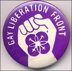 GLF campaign badge, 1970s (source: http://gladtobegay.net/interview-tom-robinson/part-1/)