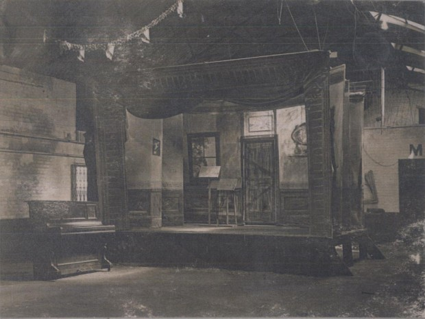 Stratford Camp theatre. Image copyright of the Imperial War Museum & Newham Archives.