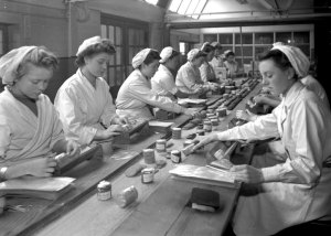 Women at work at Wright's Biscuits Factory