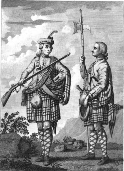 Image: Francis Grose, 'An Officer and Serjeant [sic] of a Highland Regiment' from Military Antiquities Respecting a History of The English Army from Conquest to the Present Time (London, 1801). http://commons.wikimedia.org/wiki/File:HighlandWatch1801.png Accessed 26/1/2015