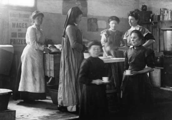A wartime canteen run by the East London Federation of the Suffragettes, 1915.