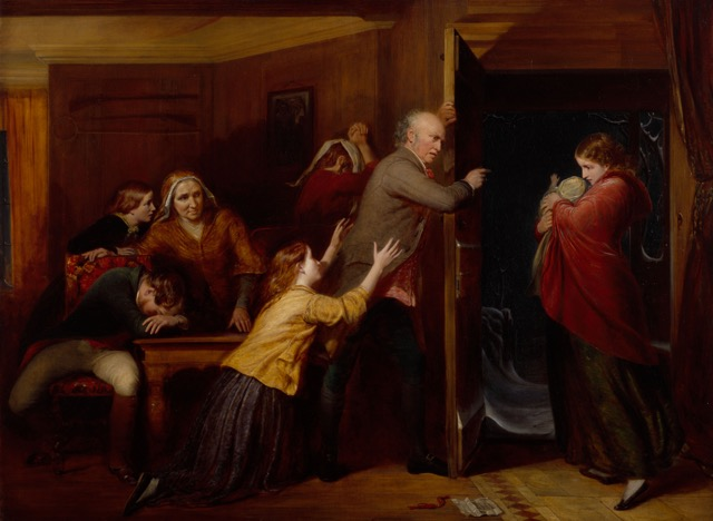 The Outcast by Richard Redgrave, RA. 1851. Oil on canvas, 31 x 41 inches. Royal Academy of the Arts, London. Source: Wikimedia Commons