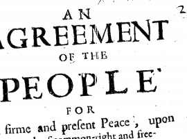Radical Books: 'An Agreement of the People' (1647)