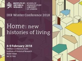 Home: new histories of living, 8-9 February 2018
