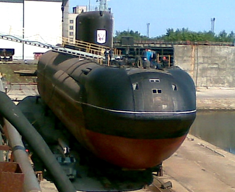 Sarov in dry dock