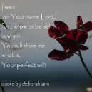CHRISTian poetry by deborah ann ~ Quote I Wait ~