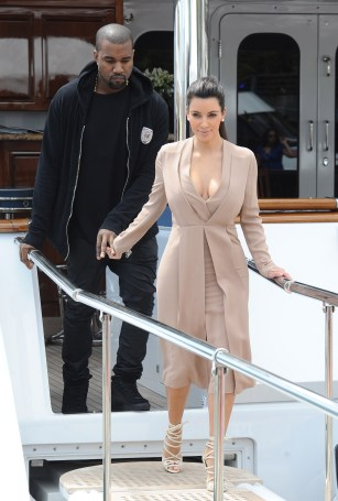 Kanye West and Kim Kardashian in Cannes