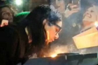 Skrillex on fire