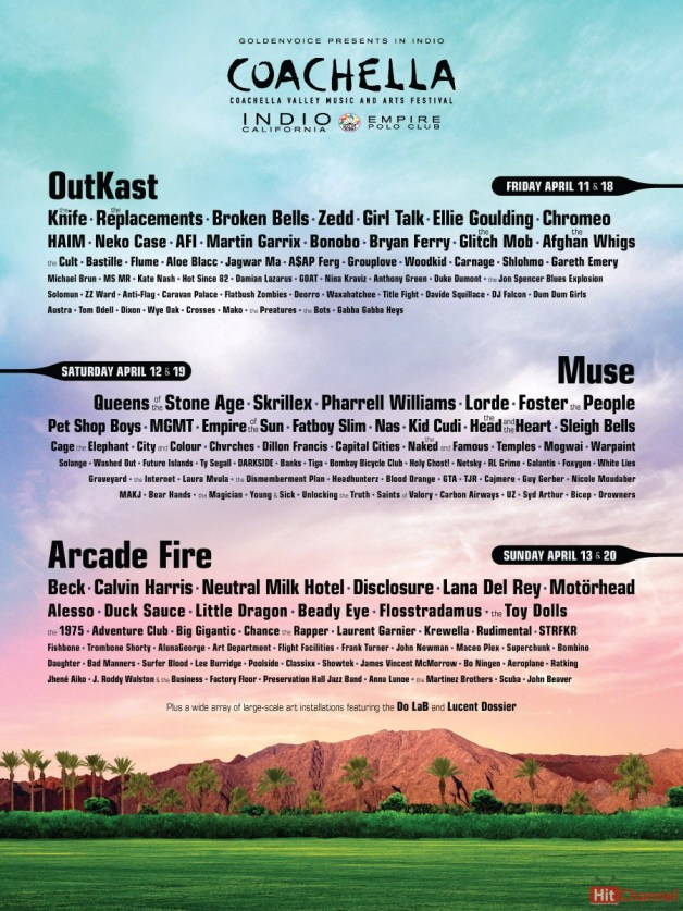Coachella Festival 2014 -line up