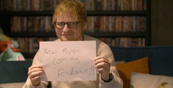 Ed Sheeran - new music message - Hit Channel