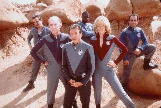 "1999 Tim Allen, Sigourney Weaver, Alan Rickman, Sam Rockwell, Tony Shalhoub et Daryl Mitchell, stars du film ""Galaxy Quest"". Photo Dreamworks"