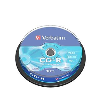 Blank DVD Verbatim 10 Pack 700MB CD-R