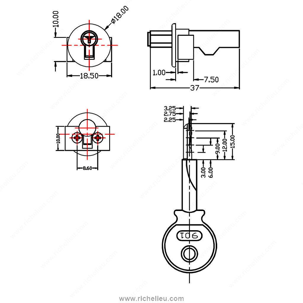 Cabinet Sliding Glass Door Lock For Glass Rail