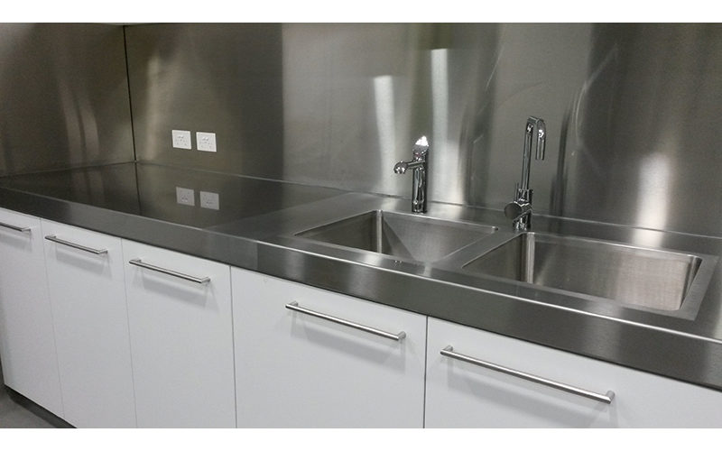 Stainless Steel Kitchen Sinks Benches Splashbacks