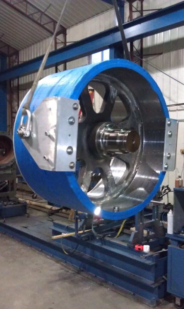 Large permanent magnet motor generator rotor hi tek for What is a permanent magnet motor