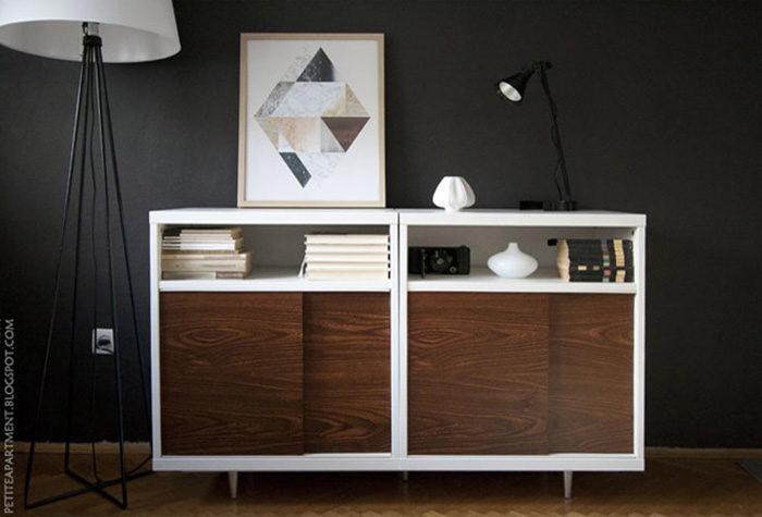 painting a mid century modern dresser