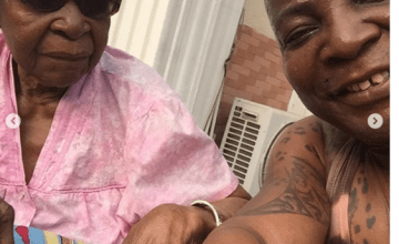 [PHOTOS] Charly Boy Shares Lovely Photos With His 101-year-old Mother