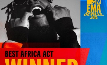 MTV EMAs 2019 Burna Boy Wins 'Best African Act' Award