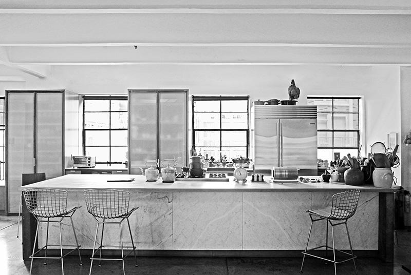 ロフトスタイルインテリアのキッチン