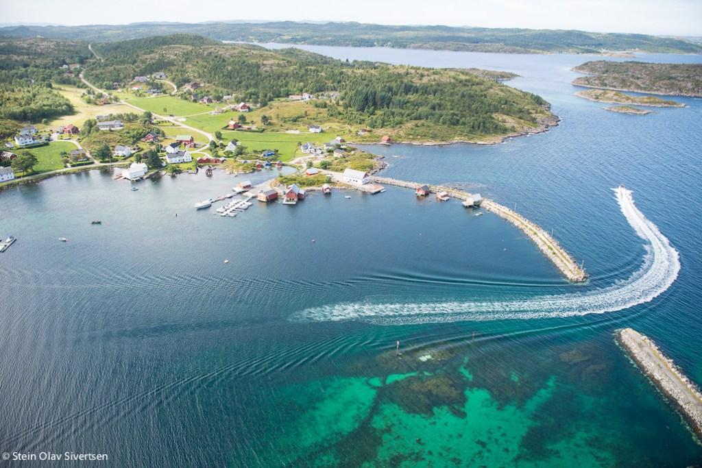 Flyfoto fra Børøsund