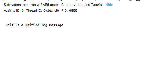 getting started with swift logging