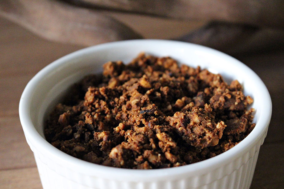 Poudre de cacahuètes pour le pad thai végétarien