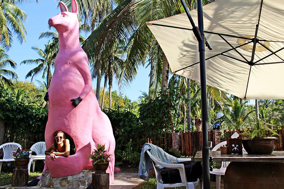 Pour déguster un bon expresso, le Pink Kangaroo café à Koh Kood est une adresses originale.