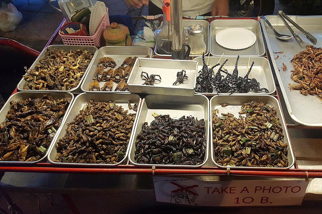 Que faire à Bangkok? Mangez des insectes.