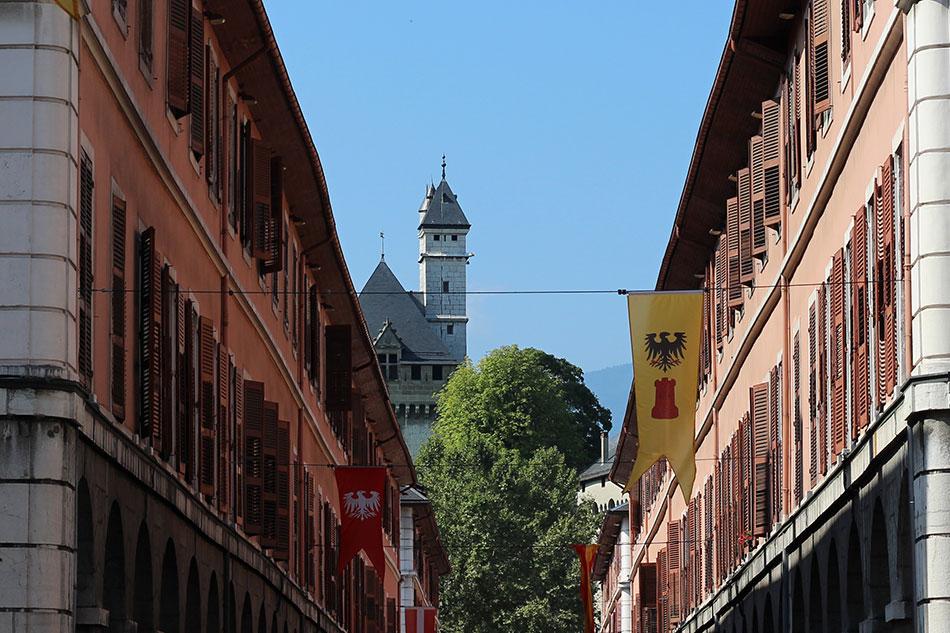 La château des Ducs de Savoie à Chambéry en Savoie (France)